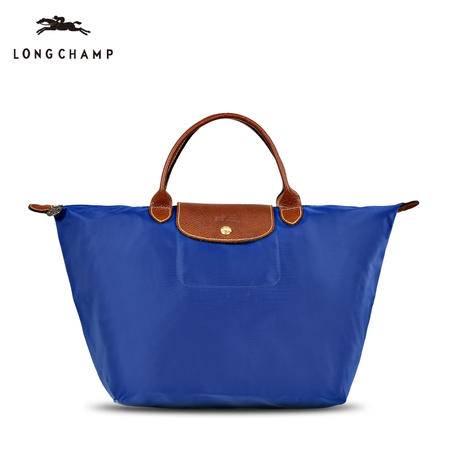Longchamp 尼龙折叠包短柄1623#靛蓝