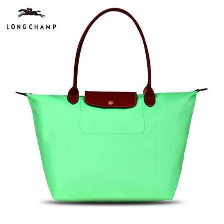 Longchamp 尼龙折叠包长柄1899# 绿色