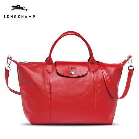 Longchamp 小羊皮折叠短柄1515#