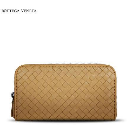 Bottega Veneta 编织长拉链皮夹