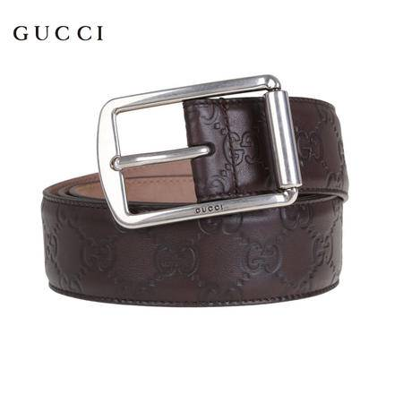 Gucci 矩形扣 互扣式双G印花皮带
