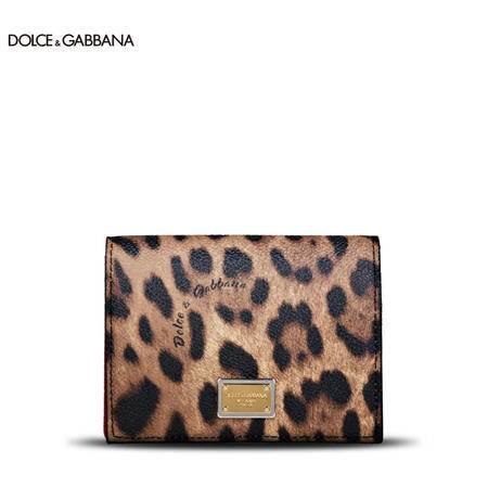 Dolce & Gabbana 经典豹纹卡片包