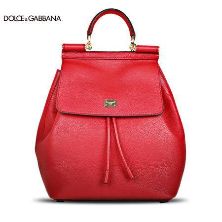 Dolce & Gabbana SICILY 小号牛皮双肩背包
