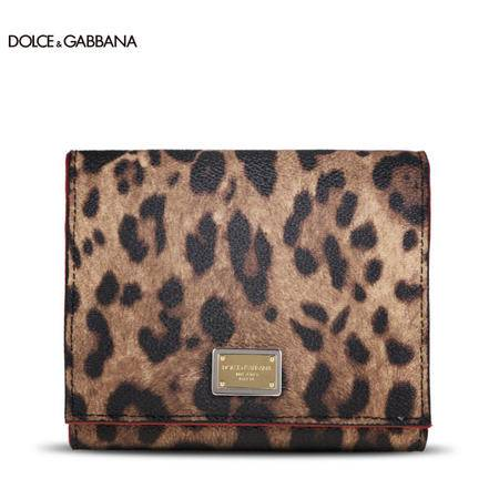 Dolce & Gabbana 经典豹纹短款对折钱夹