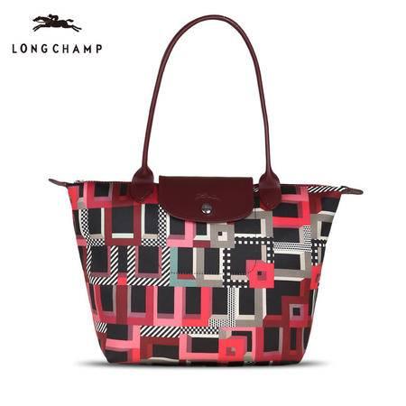 Longchamp 厚款尼龙包长柄 2605 街道地图款 限量