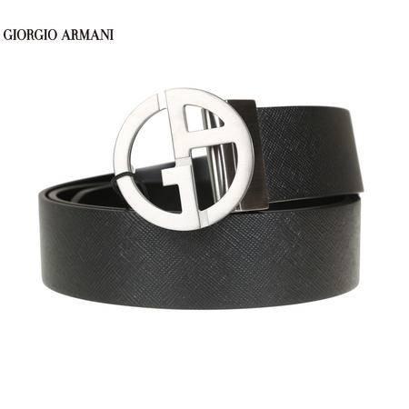 GIORGIO ARMANI 压纹牛皮板扣双面皮带