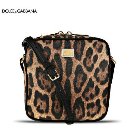 Dolce & Gabbana 经典豹纹链条单肩小包