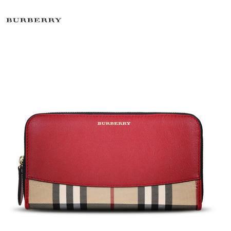 Burberry Elmore 格纹长款拉链钱夹 H