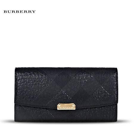 Burberry Porter 长款翻盖钱夹 E