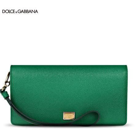 Dolce & Gabbana 女款牛皮翻盖手腕包手拿包