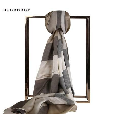 Burberry Core 格子绸缎丝巾