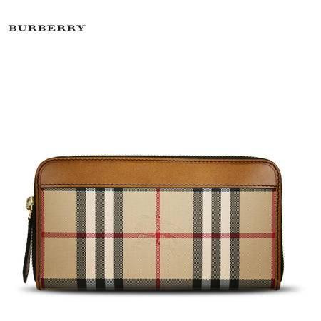 Burberry LG ZIG 长款拉链钱夹 H