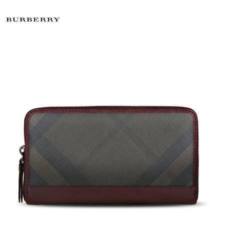 Burberry Renfrew 格纹长款拉链钱夹