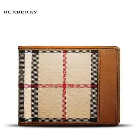 Burberry Hipfold 短款对折钱夹 H