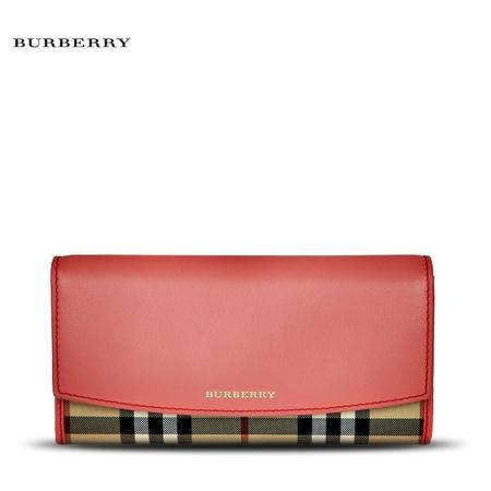 Burberry Porter 格纹长款翻盖钱夹 H