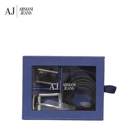 Armani AJ 板扣针扣腰带礼盒