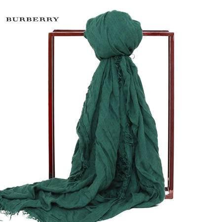 Burberry Festival 褶皱莫代尔羊毛围巾 140x170