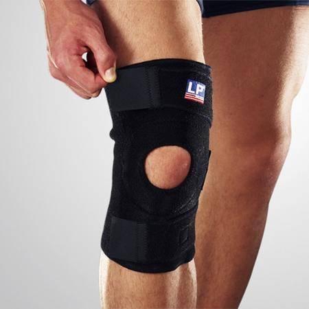 LP 美国欧比护具758膝盖护膝调整运动型篮球羽毛球登山徒步 均码