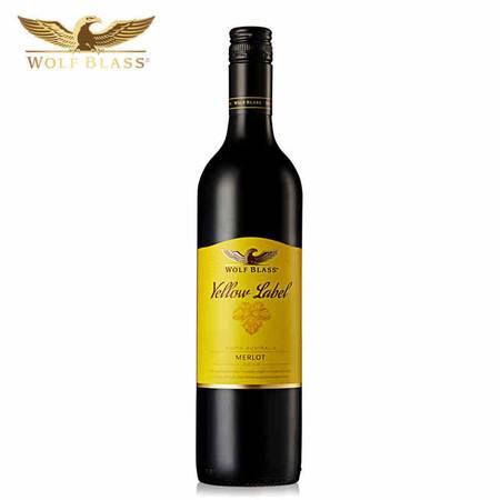东唐酒歌 澳洲进口红酒 纷赋酒庄黄牌梅洛干红葡萄酒 750ml 包邮