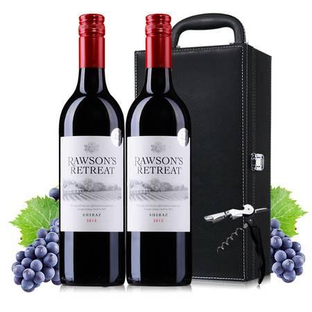 东唐酒歌 澳洲原装进口红酒 奔富洛神山庄西拉干红葡萄酒皮礼盒装 包邮