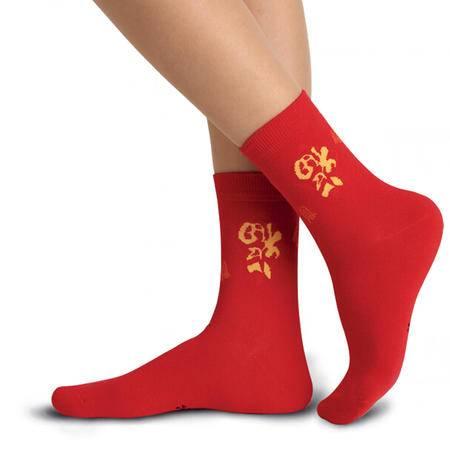 【4双装】梦娜红棉袜 本命年喜袜 结婚喜气袜子女士福上添财中厚棉袜