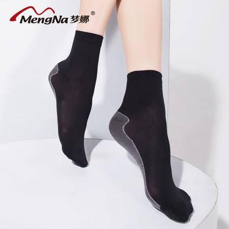 梦娜(5双)天鹅绒短丝袜 女棉底防滑 秋短袜加厚舒适耐磨耐穿