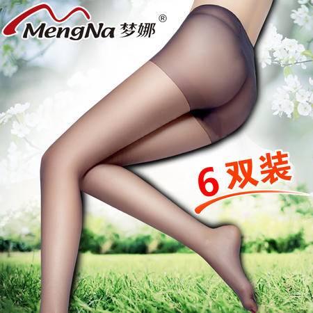 【6双装】包邮梦娜丝袜 连裤袜防勾丝黑色 肉色春夏性感超薄黑丝袜子女袜