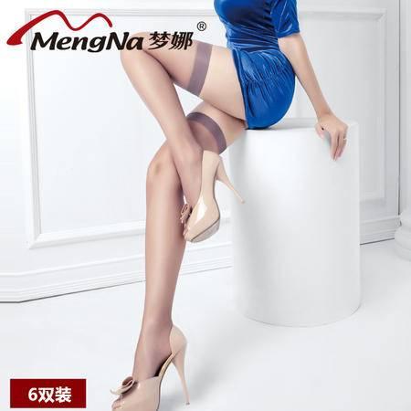 【6双装】梦娜夏季新品防勾丝性感超薄长筒长统袜显瘦女式大腿丝袜包芯丝四骨袜