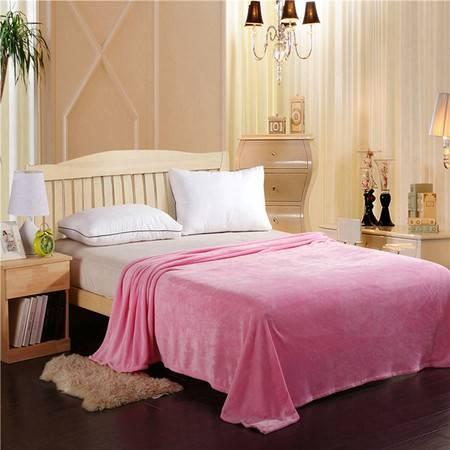 睐珂之尚 纯色法莱绒毛毯法兰绒床单睡毯夏季毯空调毯180*200cm