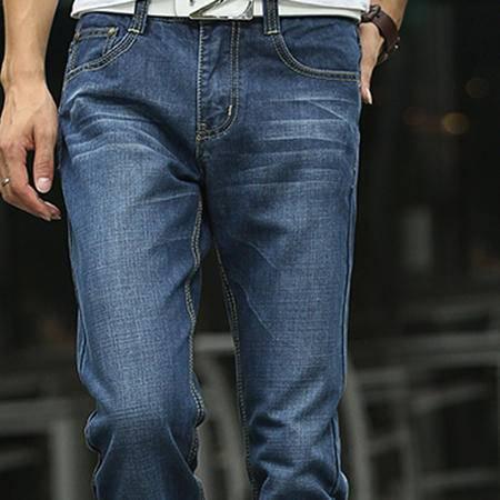 新款潮流时尚直筒修身型男士牛仔裤休闲舒适透气 时尚个性 经典有型牛仔长裤 潮男必备