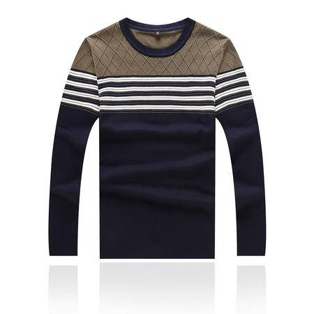 秋装新款男士毛衣 修身青年韩版时尚男装长袖毛衣 圆领