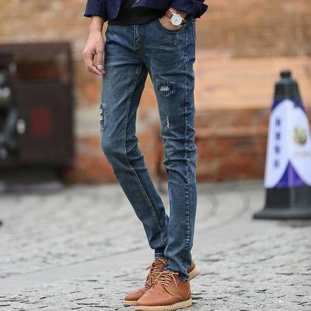 朗欣新款潮流时尚弹力修身型男士牛仔裤休闲舒适透气 时尚个性 经典有型牛仔长裤 潮男必备6909
