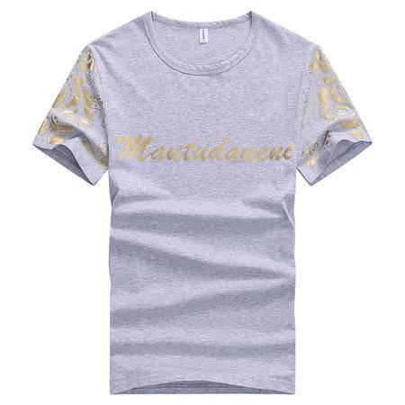 郎欣韩版新款男式圆领休闲印花时尚修身短袖T恤BK108