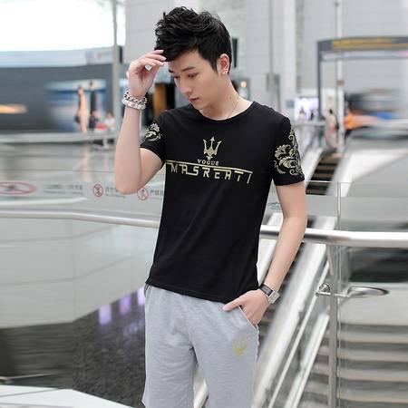 朗欣青年男士短袖T恤圆领薄款休闲体恤t恤潮BKD08