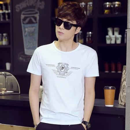 夏季新款男士休闲时尚印花T恤LG1631