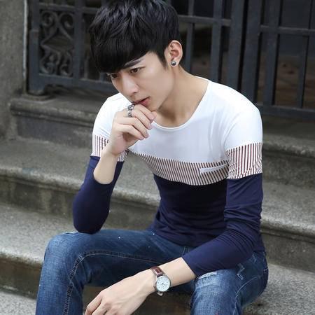新款男士修身时尚长袖T恤SLS680