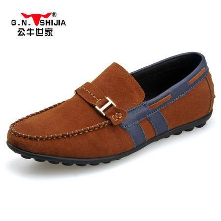 公牛世家男鞋英伦时尚商务鞋单鞋男士休闲鞋低帮驾车鞋豆豆鞋888060