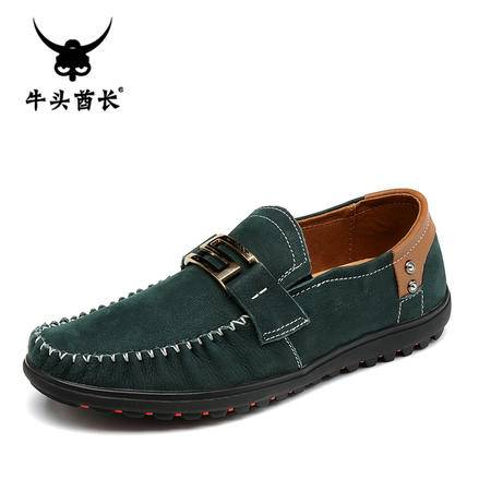 牛头酋长TBA豆豆鞋男鞋真皮男士休闲鞋驾车鞋正品商务头层皮鞋子5822
