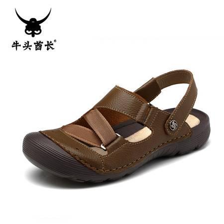 牛头酋长夏季潮流透气沙滩鞋休闲鞋运动凉鞋拖鞋涉水鞋溯溪鞋男鞋5961