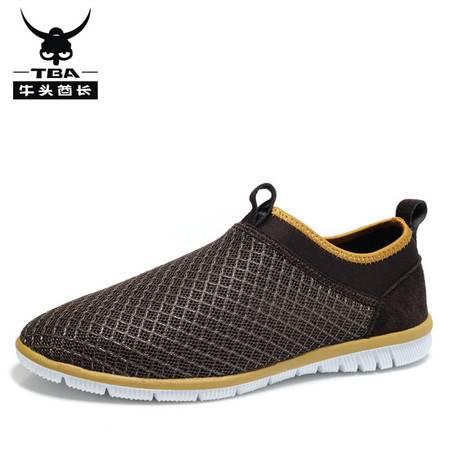 牛头酋长男鞋夏季新款休闲鞋超轻网面透气鞋懒人鞋沙滩鞋运动鞋5989