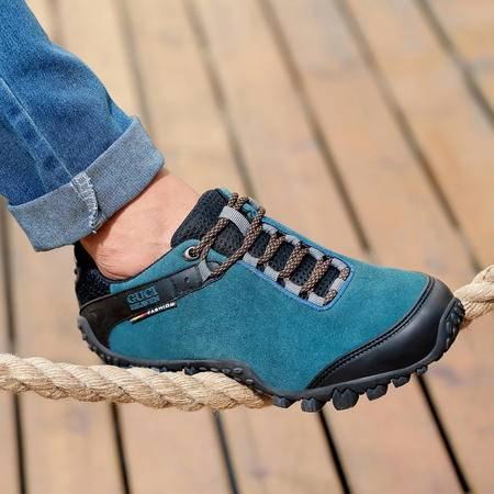 古奇天伦登山鞋秋季新款徒步鞋真皮户外鞋运动鞋休闲鞋低帮男鞋