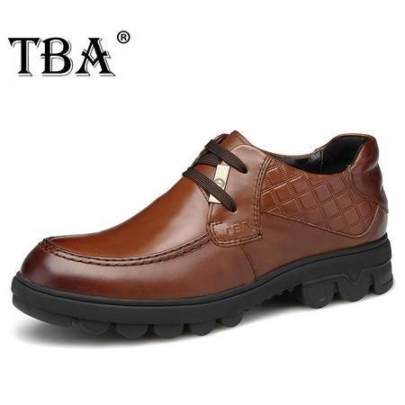 牛头酋长春秋新款真皮男鞋系带高帮休闲鞋工装皮鞋潮流商务鞋子