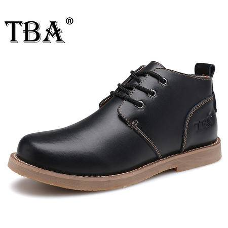 TBA牛头酋长秋冬男鞋英伦马丁靴休闲鞋男士真皮鞋子大头皮鞋高帮工装鞋短靴子