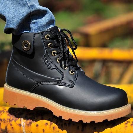 古奇天伦冬季新款男鞋保暖棉鞋加绒男靴雪地靴休闲鞋短靴工装鞋