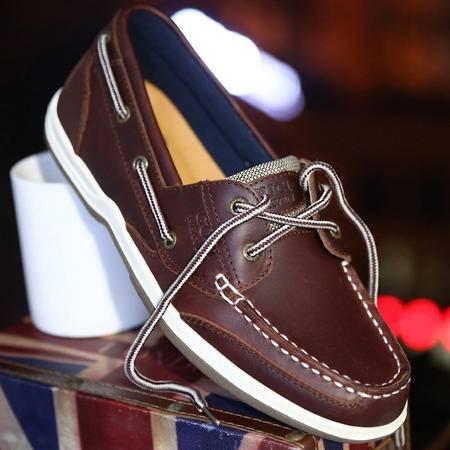 古奇天伦2015新款男鞋真皮板鞋帆船鞋休闲皮鞋低帮鞋男系带单鞋子