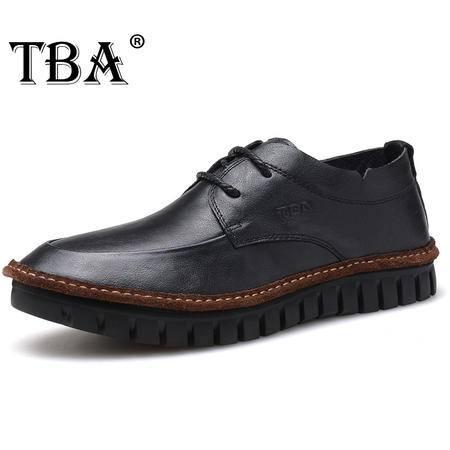 牛头酋长男鞋英伦休闲鞋头层皮男士真皮鞋子系带鞋软底鞋单鞋