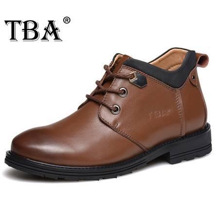 牛头酋长春季男士皮鞋男真皮商务正装鞋子尖头系带高帮鞋男鞋