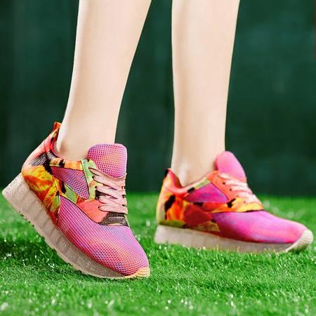 盾狐春夏新款板鞋正品运动鞋网布透气时尚耐磨休闲鞋学院阿甘鞋女鞋