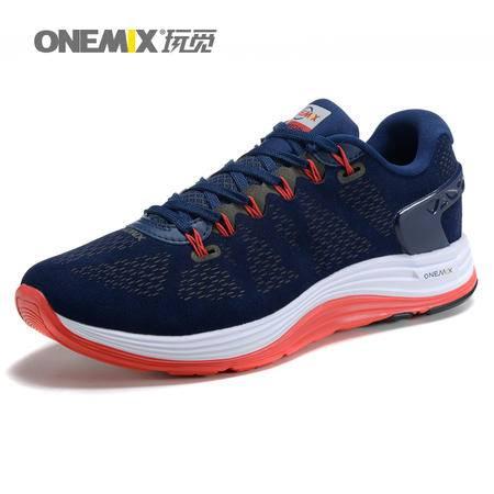ONEMIX秋冬款旅游鞋运动鞋跑步鞋网布轻便保暖男士户外休闲鞋系带男鞋