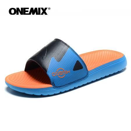 ONEMIX玩觅夏季拖鞋厚底防滑拖鞋舒适休闲沙滩拖鞋居家拖鞋男鞋